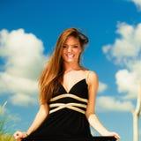 Kobieta plenerowy urlopowy dzień Fotografia Royalty Free