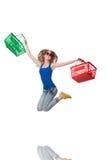 Kobieta po robić zakupy Obrazy Stock