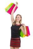Kobieta po wypad do sklepów Zdjęcia Stock