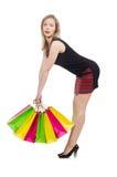 Kobieta po wypad do sklepów Obraz Stock
