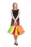 Kobieta po wypad do sklepów Zdjęcie Stock
