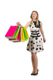 Kobieta po wypad do sklepów Obrazy Stock