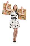 Kobieta po wypad do sklepów Obraz Royalty Free