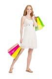 Kobieta po wypad do sklepów Zdjęcia Royalty Free