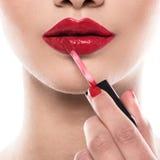 Kobieta podczas makeup fotografia royalty free