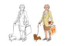 kobieta podmoczenie ilustracja wektor