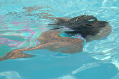 kobieta podwodna Fotografia Stock