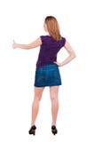 Kobieta pokazuje ok znaka. Zdjęcie Stock