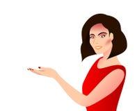 Kobieta pokazywać kaliber Zdjęcia Stock
