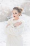 Kobieta portret, Śnieżna królowa Zdjęcie Royalty Free