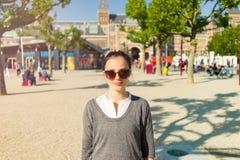 Kobieta portret w Vondelpark Zdjęcia Stock