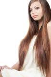Kobieta portret z długie włosy Zdjęcia Stock