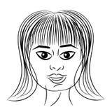 Kobieta portreta bufiasta głowa odizolowywająca Fotografia Royalty Free