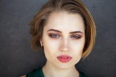 Kobieta portreta naturalny piękny Zdjęcie Royalty Free