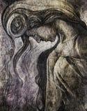 Kobieta portreta solenny pojęcie ilustracja wektor