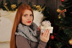 kobieta portreta zimy boże narodzenia Obraz Stock