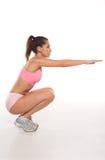 Kobieta pracujący out robi aerobiki zdjęcie royalty free