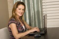Kobieta pracuje od jej ministerstwa spraw wewnętrznych Obraz Stock