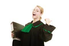 Kobieta prawnik z kartoteka dossier lub falcówką Zdjęcie Stock