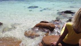 Kobieta przy Anse losem angeles Blague zbiory wideo