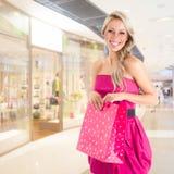 Kobieta przy zakupy Obraz Stock
