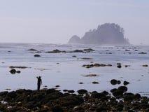 Kobieta przyglądająca morze out Fotografia Stock