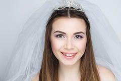 Kobieta przygotowywa dla poślubiać Fotografia Royalty Free