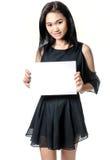 kobieta pustej karty gospodarstwa Obraz Stock