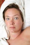 kobieta ręcznikowa Fotografia Royalty Free