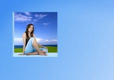 kobieta relaksująca bluzę Zdjęcia Stock