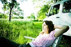 kobieta relaksująca Obraz Royalty Free