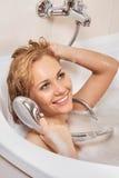 Kobieta relaksuje w wannie Obraz Stock