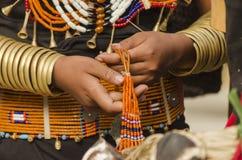 Kobieta robi jewellery Zdjęcie Stock