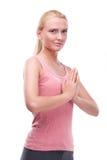 Kobieta robi joga obraz stock