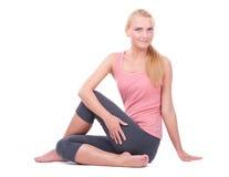 Kobieta robi joga zdjęcie royalty free