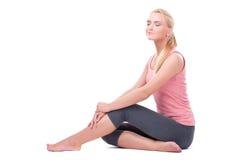 Kobieta robi joga obrazy stock