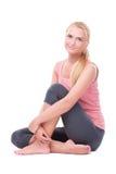 Kobieta robi joga zdjęcie stock