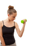 Kobieta robi sprawności fizycznej ćwiczeniu obrazy royalty free