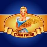 Kobieta rolnika sztandar Ilustracja Wektor