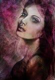 Kobieta romantyczny portret ilustracji