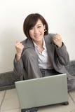 kobieta rozochocona jednostek gospodarczych Zdjęcia Stock