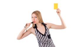 Kobieta sędzia odizolowywający Zdjęcia Stock