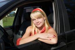 kobieta samochodów Fotografia Royalty Free