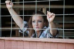 Kobieta samotność Zdjęcia Royalty Free