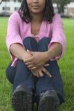 kobieta, siedząca fotografia stock