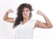 kobieta silny świat Fotografia Royalty Free
