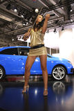 kobieta skrzypcowa samochodów Fotografia Royalty Free
