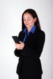 kobieta sms - ów Obrazy Stock