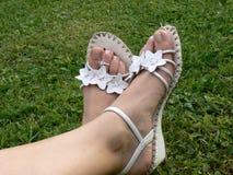 kobieta stopy Zdjęcie Royalty Free
