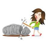 Kobieta stresu skały upadanie Zdjęcie Stock